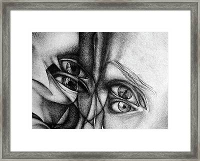Scent Of A Dream, 2017, 50-70cm, Graphite Crayon On Paper Framed Print by Oana Unciuleanu
