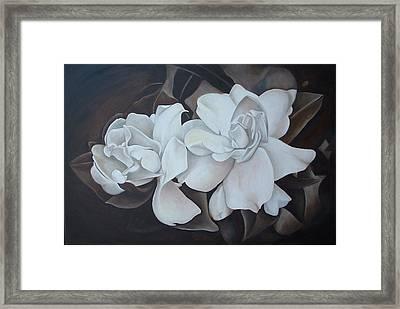 Scent Of Gardenias Framed Print by Daniela Easter