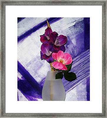 Scentual Tranquility Framed Print by Marsha Heiken
