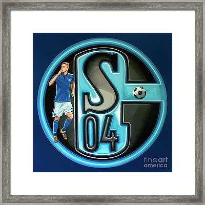 Schalke 04 Gelsenkirchen Painting Framed Print