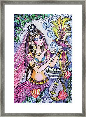 Framed Print featuring the painting Scheherazade's Bird by Eva Campbell