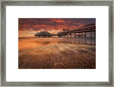 Scheveningen Sunset Framed Print