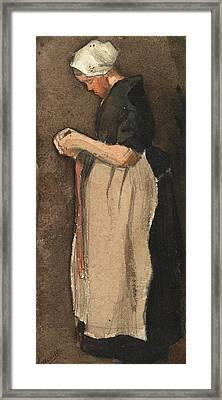 Scheveningen Woman, 1881 Framed Print