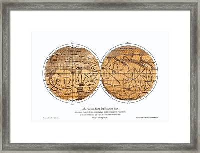 Schiaparelli's Map Of Mars, 1877-1888 Framed Print
