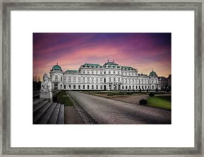 Schloss Belvedere Vienna Framed Print