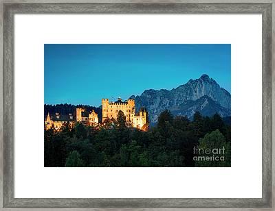 Framed Print featuring the photograph Schloss Hohenschwangau by Brian Jannsen