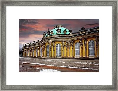 Schloss Sanssouci Potsdam  Framed Print by Carol Japp
