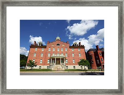 Schmucker Hall Gettysburg Theological Seminary Framed Print by James Brunker