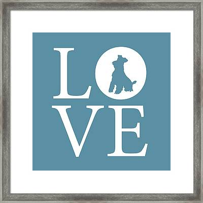 Schnauzer Love Framed Print by Nancy Ingersoll