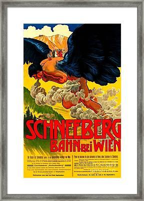 Schneeberg Bahn Bei Wien Railway Austria 1905 II Framed Print by Peter Gumaer Ogden Collection