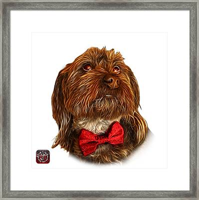Framed Print featuring the painting Schnoodle Pop Art - 3687 by James Ahn