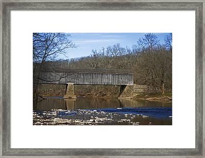 Schofield Ford Covered Bridge Framed Print by Elsa Marie Santoro