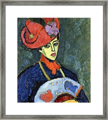 Schokko With Red Hat Framed Print