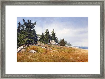 Schoodic Coast Framed Print by Tom Wooldridge