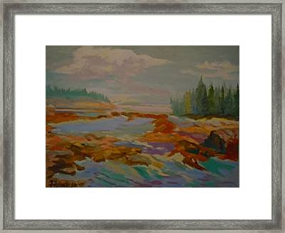 Framed Print featuring the painting Schoodic Inlet 2 by Francine Frank