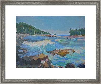 Framed Print featuring the painting Schoodic Inlet by Francine Frank