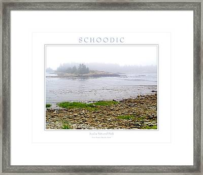 Schoodic Framed Print by Peter Muzyka
