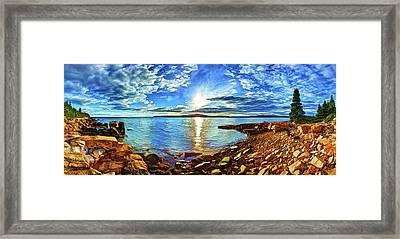 Schoodic Point Cove Framed Print
