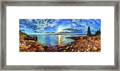 Schoodic Point Cove Framed Print by ABeautifulSky Photography