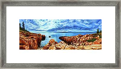 Schoodic Point Granite Framed Print by ABeautifulSky Photography