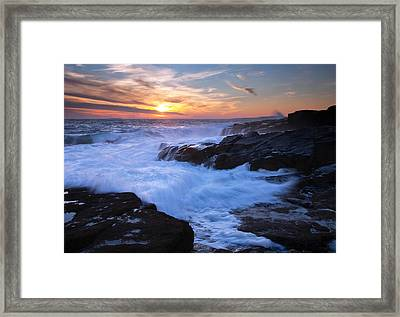 Schoodic Seas Framed Print by Patrick Downey