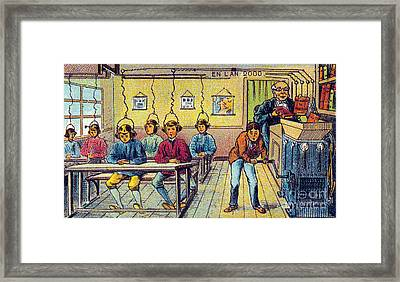 School, 1900s French Postcard Framed Print