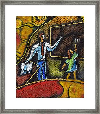 School And Education Framed Print by Leon Zernitsky