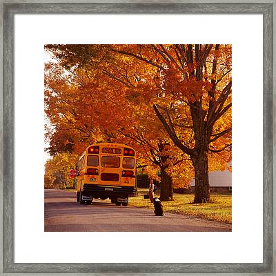 Good Bye Friend I. Vermont Framed Print by George Robinson