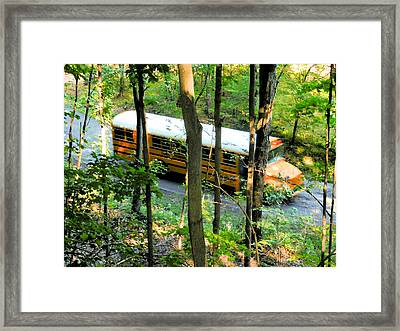 School Bus Framed Print by Lanjee Chee