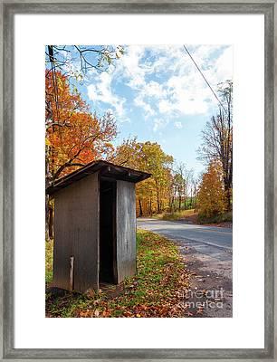 School Bus Shelter - Wv Framed Print by Kathleen K Parker
