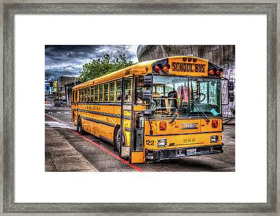 School Bus Framed Print by Spencer McDonald