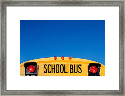 School Bus Top Framed Print by Todd Klassy