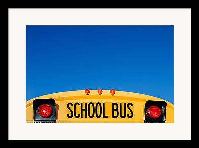 School Bus Framed Prints