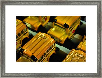 School Buses  Framed Print by John S