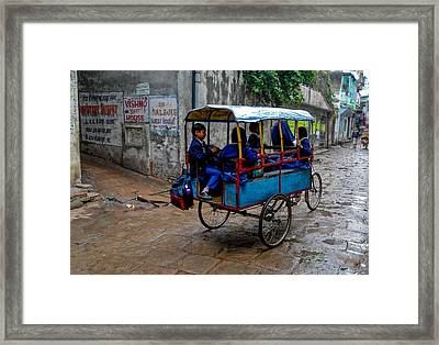 School Cart Framed Print
