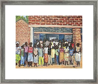 School Class Burkina Faso Series Framed Print by Reb Frost