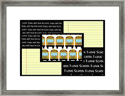 Framed Print featuring the digital art School Days 1- Cute Art by KayeCee Spain