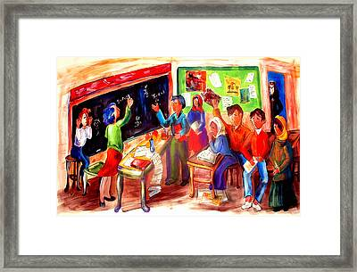 School Days In Morocco Framed Print by Patricia Rachidi