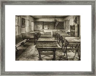 School Days - Sepia Framed Print by Priscilla Burgers