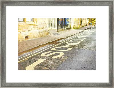 School Entrance Framed Print