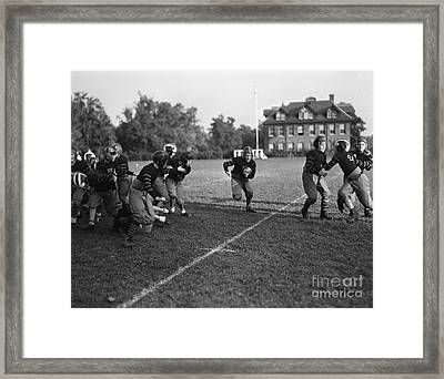 School Football Team, C.1930s Framed Print by H. Armstrong Roberts/ClassicStock