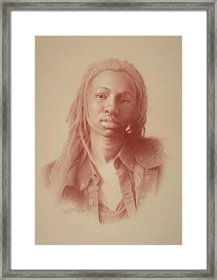 School Girl Framed Print by Todd Baxter