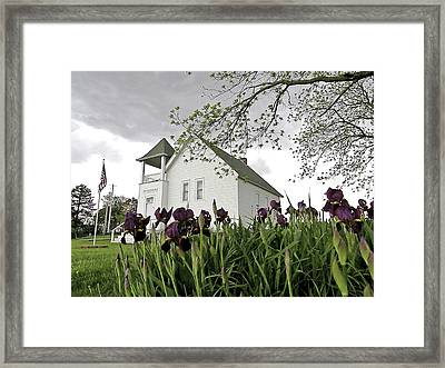 School House In The Country II Framed Print by Christine Belt