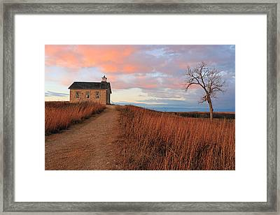 School House Road Framed Print by Christopher McKenzie