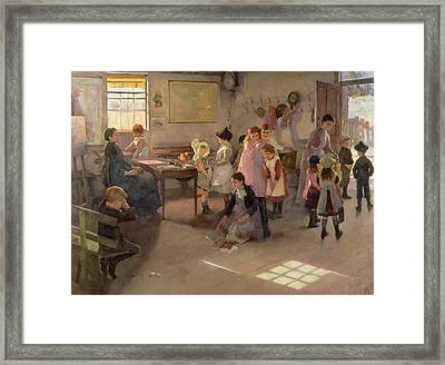 School Is Out Framed Print by Elizabeth Adela Stanhope Forbes