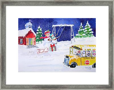 School' Is Out Framed Print by Suzy Pal Powell