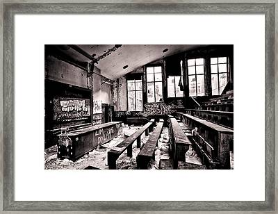 School Is Out - Urban Decay Framed Print