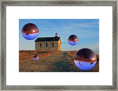 School House Visitors Framed Print by Christopher McKenzie