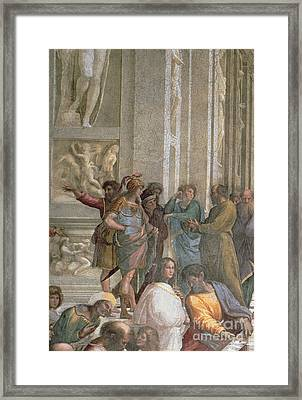 School Of Athens, From The Stanza Della Segnatura Framed Print by Raphael