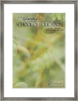 School Of Curiosity 01 Framed Print